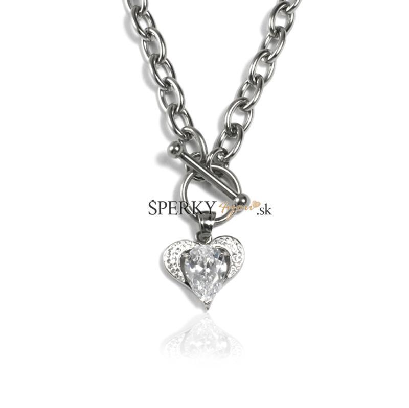 347dad247 Dámsky náhrdelník srdce z chirurgickej ocele S31130   Šperky4you.sk ...