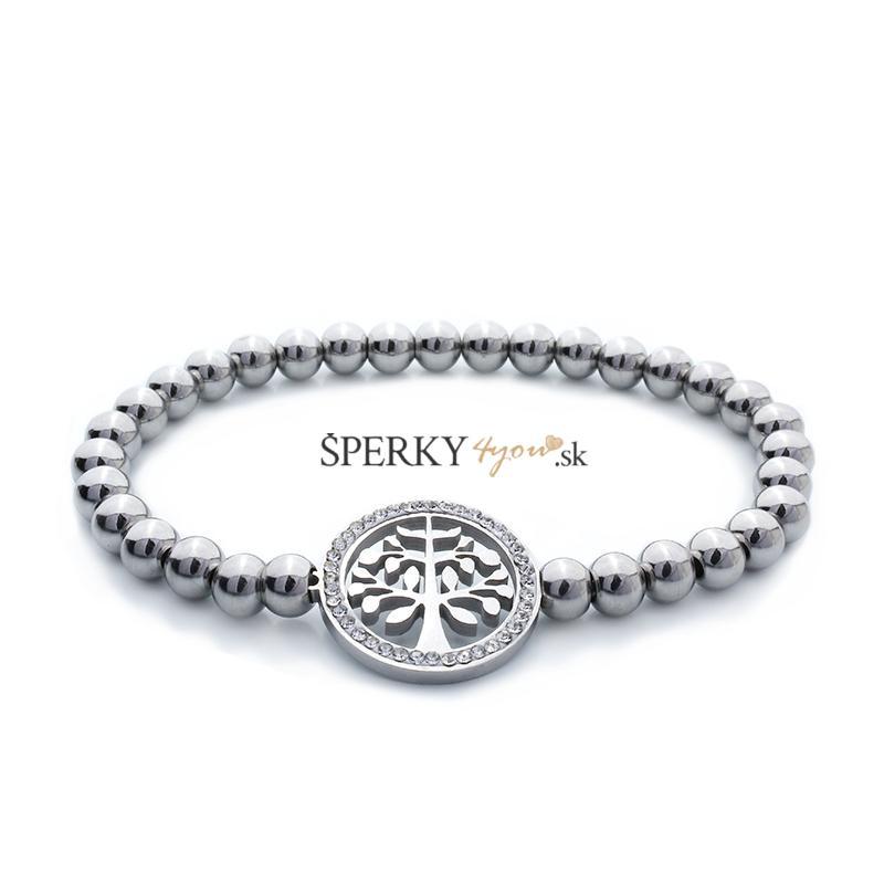 Dámsky guličkový náramok strom života z chirurgickej ocele S576100 ... 42b56545ad8