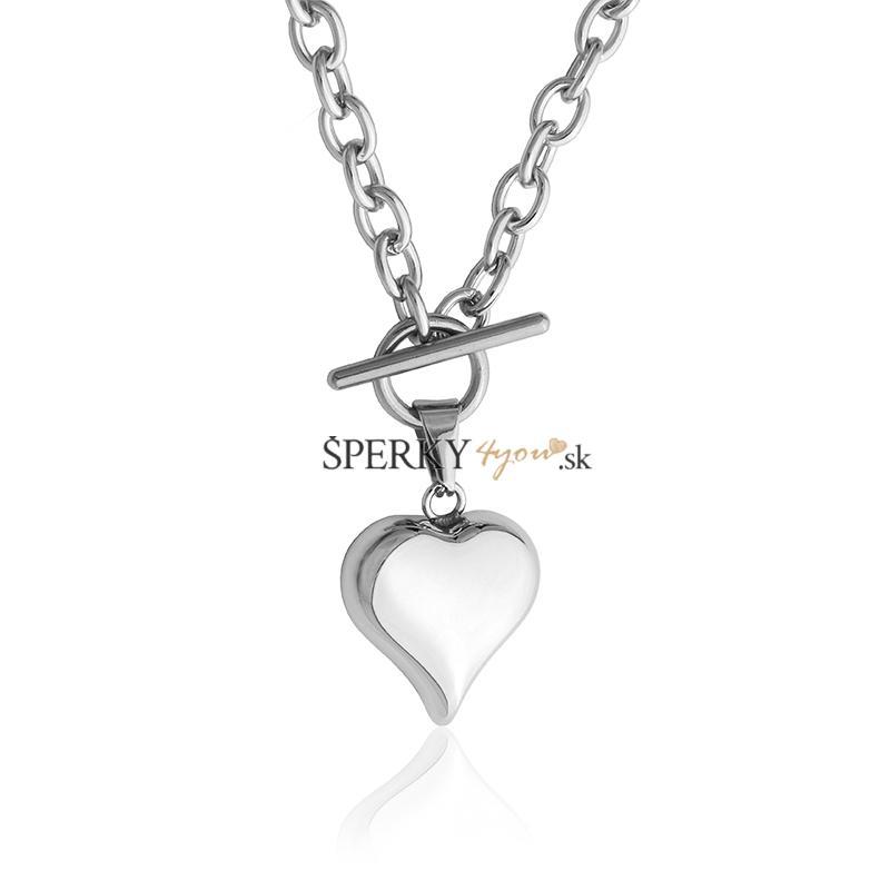 d12341f29 Dámsky náhrdelník 3D srdce 2,3cm z chirurgickej ocele S636080 ...